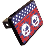 """Whale Rectangular Trailer Hitch Cover - 2"""" (Personalized)"""