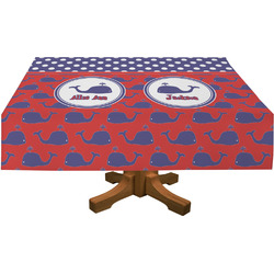 Whale Rectangle Tablecloth (Personalized)
