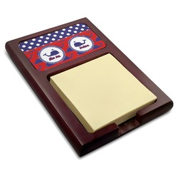 Whale Red Mahogany Sticky Note Holder (Personalized)