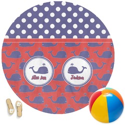 Whale Round Beach Towel (Personalized)