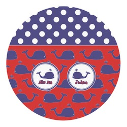 Whale Round Decal - Small (Personalized)