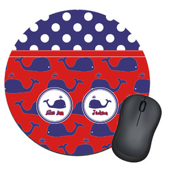 Whale Round Mouse Pad (Personalized)