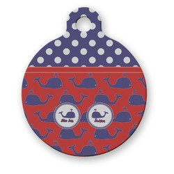 Whale Round Pet Tag (Personalized)