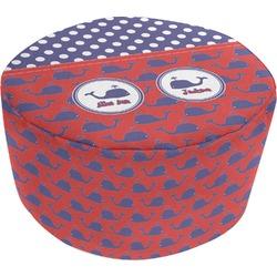 Whale Round Pouf Ottoman (Personalized)
