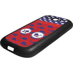 Whale Rubber Samsung Galaxy 3 Phone Case (Personalized)
