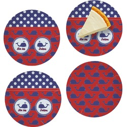 Whale Set of Appetizer / Dessert Plates (Personalized)