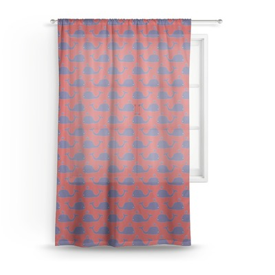 """Whale Sheer Curtain - 50""""x84"""" (Personalized)"""