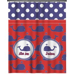 """Whale Extra Long Shower Curtain - 70""""x84"""" (Personalized)"""