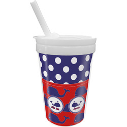 Whale Sippy Cup with Straw (Personalized)