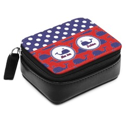 Whale Small Leatherette Travel Pill Case (Personalized)