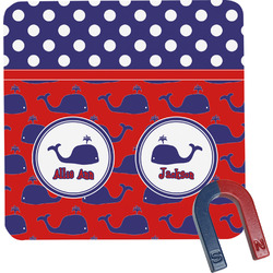 Whale Square Fridge Magnet (Personalized)