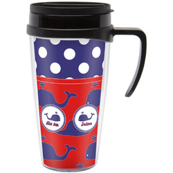 Whale Travel Mug with Handle (Personalized)