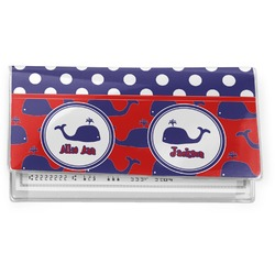 Whale Vinyl Checkbook Cover (Personalized)