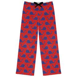 Whale Womens Pajama Pants (Personalized)