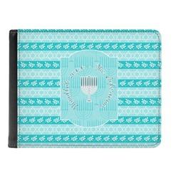 Hanukkah Genuine Leather Men's Bi-fold Wallet (Personalized)