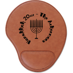 Hanukkah Leatherette Mouse Pad with Wrist Support (Personalized)