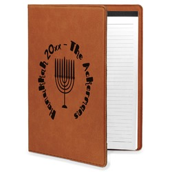 Hanukkah Leatherette Portfolio with Notepad (Personalized)