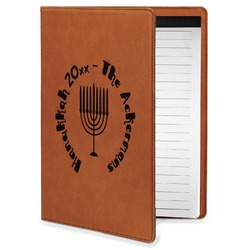 Hanukkah Leatherette Portfolio with Notepad - Small - Single Sided (Personalized)