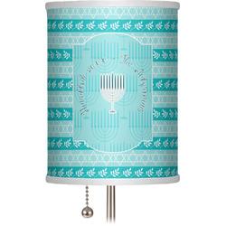 """Hanukkah 7"""" Drum Lamp Shade (Personalized)"""