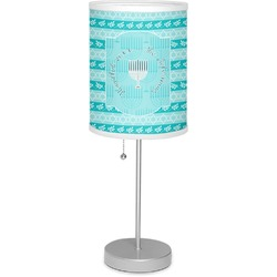 """Hanukkah 7"""" Drum Lamp with Shade (Personalized)"""