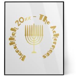 Hanukkah 8x10 Foil Wall Art - White (Personalized)