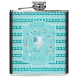 Hanukkah Genuine Leather Flask (Personalized)