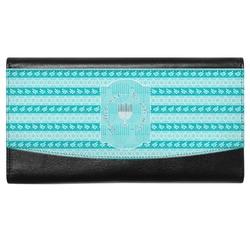 Hanukkah Genuine Leather Ladies Wallet (Personalized)