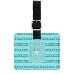 Hanukkah Genuine Leather Rectangular  Luggage Tag (Personalized)