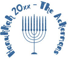 """Hanukkah Glitter Sticker Decal - Up to 4.5""""X4.5"""" (Personalized)"""