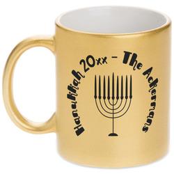 Hanukkah Gold Mug