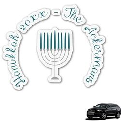 Hanukkah Graphic Car Decal (Personalized)