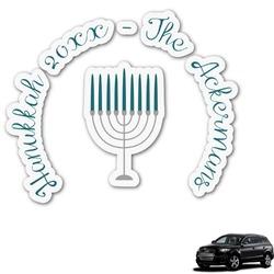 Hanukkah Graphic Car Decal (Personalized)