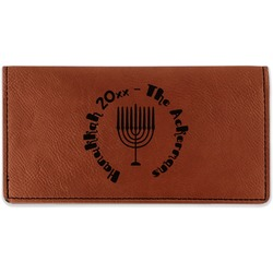 Hanukkah Leatherette Checkbook Holder (Personalized)