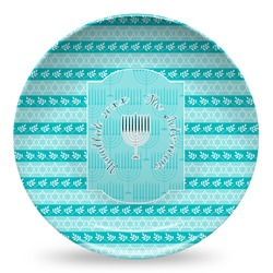 Hanukkah Microwave Safe Plastic Plate - Composite Polymer (Personalized)
