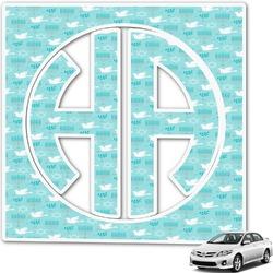 Hanukkah Monogram Car Decal (Personalized)