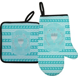 Hanukkah Oven Mitt & Pot Holder (Personalized)