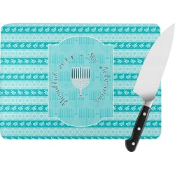 Hanukkah Rectangular Glass Cutting Board (Personalized)