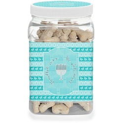 Hanukkah Dog Treat Jar (Personalized)