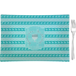 Hanukkah Rectangular Glass Appetizer / Dessert Plate - Single or Set (Personalized)
