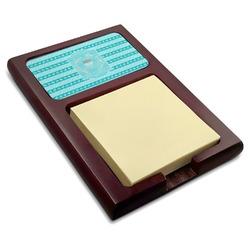 Hanukkah Red Mahogany Sticky Note Holder (Personalized)