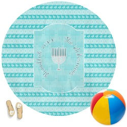 Hanukkah Round Beach Towel (Personalized)