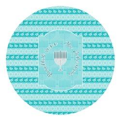 Hanukkah Round Decal - Custom Size (Personalized)