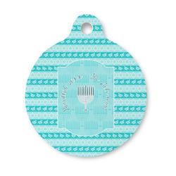 Hanukkah Round Pet ID Tag (Personalized)