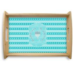 Hanukkah Natural Wooden Tray (Personalized)