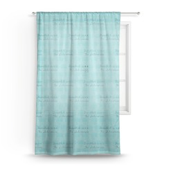 Hanukkah Sheer Curtains (Personalized)