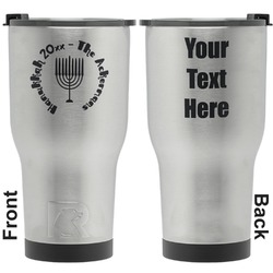 Hanukkah RTIC Tumbler - Silver - Engraved Front & Back (Personalized)