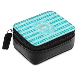 Hanukkah Small Leatherette Travel Pill Case (Personalized)