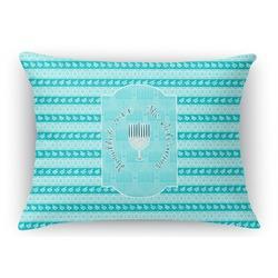 Hanukkah Rectangular Throw Pillow Case (Personalized)