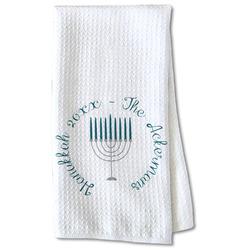 Hanukkah Waffle Weave Kitchen Towel - Partial Print (Personalized)