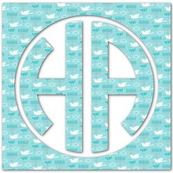 Hanukkah Monogram Decal - Small (Personalized)